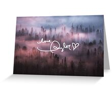 Taylor Swift Autograph (Foggy Forest) Greeting Card