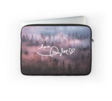 Taylor Swift Autograph (Foggy Forest) Laptop Sleeve