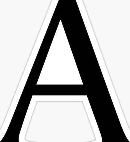 Alpha Greek Letter Sticker