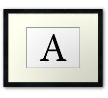 Alpha Greek Letter Framed Print