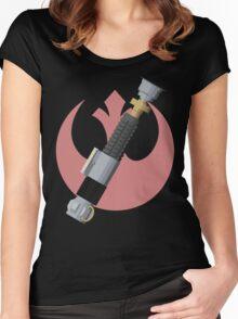 Obi-Wan Kenobi's Lightsaber - Rebel Alliance Women's Fitted Scoop T-Shirt