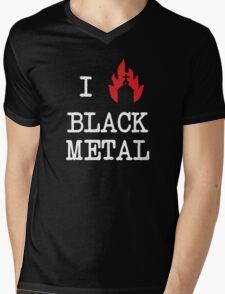 I Love Black Metal Mens V-Neck T-Shirt