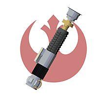 Obi-Wan Kenobi's Lightsaber - Rebel Alliance Photographic Print