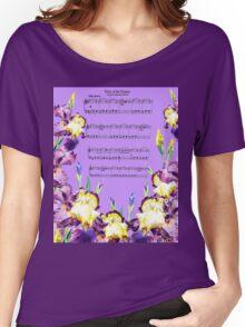 Waltz Of The Flowers Dancing Iris Women's Relaxed Fit T-Shirt