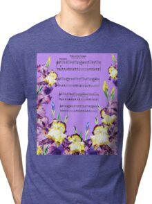 Waltz Of The Flowers Dancing Iris Tri-blend T-Shirt
