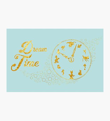 Dream time - gold Photographic Print