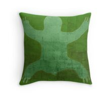 Sloth Spread In Green Throw Pillow