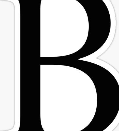 Beta Greek Letter Sticker
