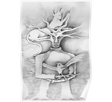 Work in Progress Surreal Cartoon ~ Ninja Tree... Poster