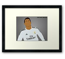 Cristiano Ronaldo ~ Simplistic Art Framed Print