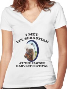 I Met Lil' Sebastian Women's Fitted V-Neck T-Shirt