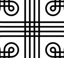 Revolving Circles - Black Sticker