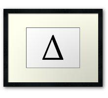 Delta Greek Letter Framed Print