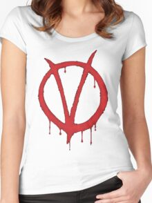 V for Vendetta Tee Women's Fitted Scoop T-Shirt