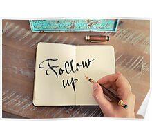 Motivational concept with handwritten text FOLLOW UP Poster