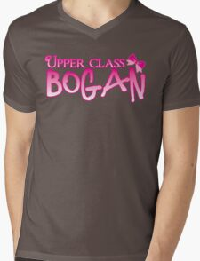 UPPER class bogan with girly bow Mens V-Neck T-Shirt