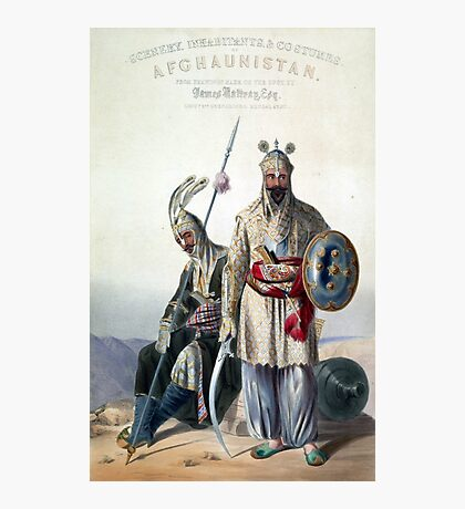 Vintage Dourraunnee Chieftains in Full Armour Photographic Print