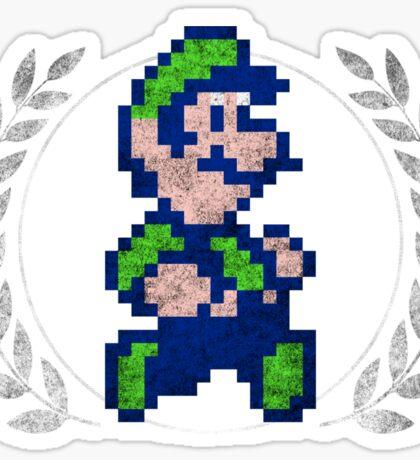 Luigi - Sprite Badge Sticker