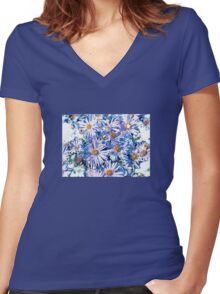 Purple Falicia Women's Fitted V-Neck T-Shirt