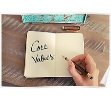 Motivational concept with handwritten text CORE VALUES Poster