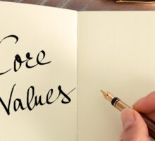 Motivational concept with handwritten text CORE VALUES Sticker
