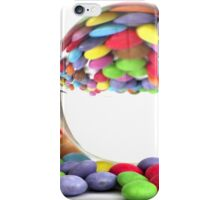 A glass ball with different colored candies. iPhone Case/Skin