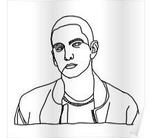 Eminem One Line Poster