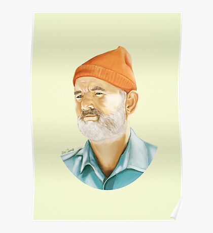 Bill Murray (Steve Zissou) Digital Painting  Poster