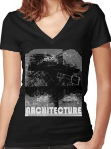Architecture 2 Women's Fitted V-Neck T-Shirt