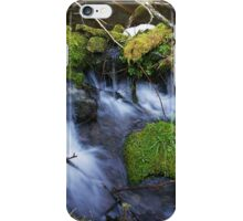 Little Mossy Stone in a Cascading Stream iPhone Case/Skin