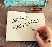 Motivational concept with handwritten text ONLINE MARKETING by Stanciuc