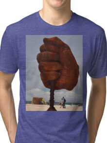 Big Fist,Sculptures By Sea<Sydney,Australia 2015 Tri-blend T-Shirt