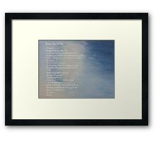 Morning Whispers with Poem Framed Print