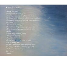 Morning Whispers with Poem Photographic Print