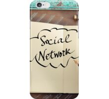 Motivational concept with handwritten text SOCIAL NETWORK iPhone Case/Skin