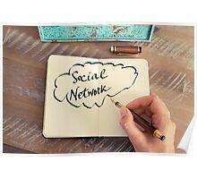 Motivational concept with handwritten text SOCIAL NETWORK Poster