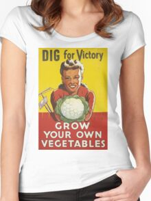 GROW YOUR OWN VEGETABLES! Women's Fitted Scoop T-Shirt