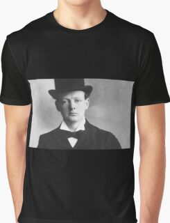 Historical Hipsters - Winston Churchill Graphic T-Shirt