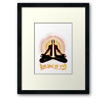 meditator - beyoutofull Framed Print