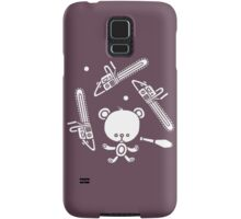 Cute Teddy Juggling 2 Balls, 3 Chainsaws and Club Samsung Galaxy Case/Skin