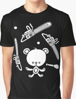 Cute Teddy Juggling 2 Balls, 3 Chainsaws and Club Graphic T-Shirt