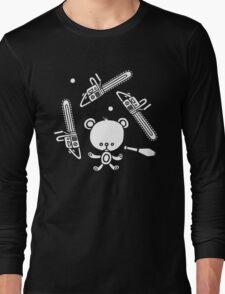 Cute Teddy Juggling 2 Balls, 3 Chainsaws and Club Long Sleeve T-Shirt