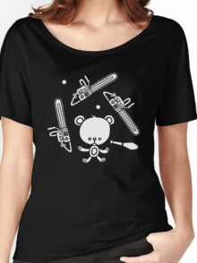 Cute Teddy Juggling 2 Balls, 3 Chainsaws and Club Women's Relaxed Fit T-Shirt