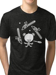 Cute Teddy Juggling 2 Balls, 3 Chainsaws and Club Tri-blend T-Shirt