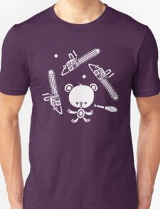 Cute Teddy Juggling 2 Balls, 3 Chainsaws and Club T-Shirt