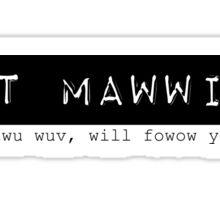 Mawwied Sticker