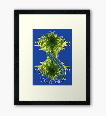 infinite nature Framed Print