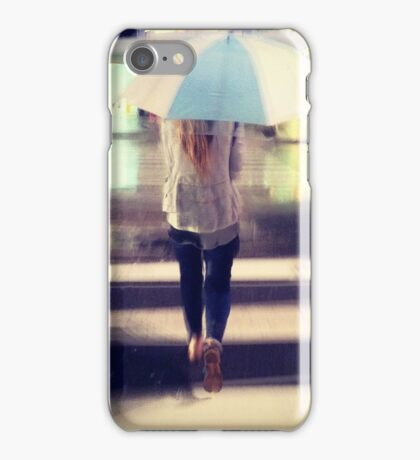 white umbrella iPhone Case/Skin