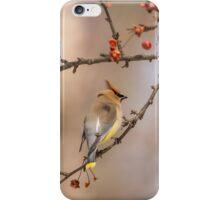 Cedar Waxwing Eating Berries 2014-2 iPhone Case/Skin