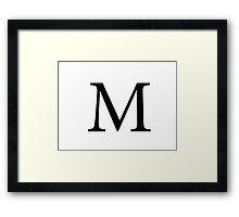 Mu Greek Letter Framed Print